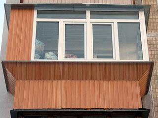 Обшивка балконов сайдингом, пластиковыми панелями, мдф, евро.