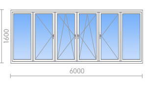 Остекление балконов и лоджий пластиковыми окнами в москве: ц.