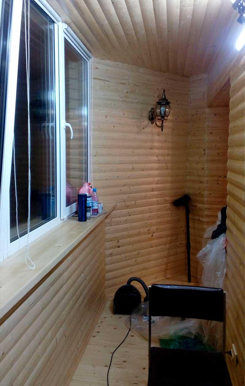 шкаф из клееного бруса на балкон лоджию