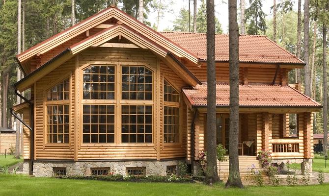 Деревянные коттеджи фото