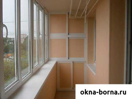 Шкаф на балкон из 6 створок