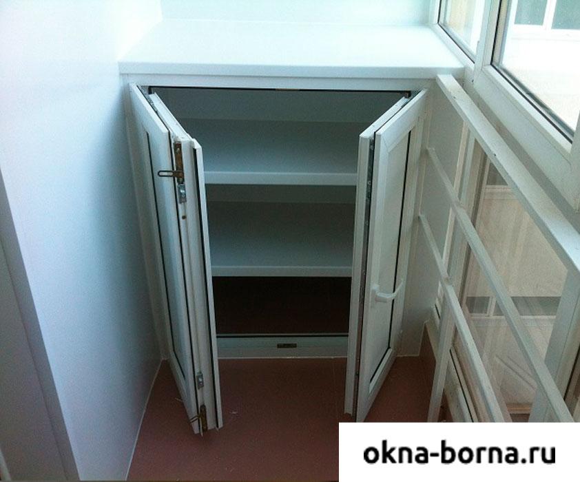 Шкафы для балкона и лоджии одностворчатые..