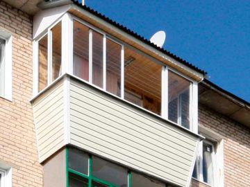 Остекление балкона последнего этажа с крышей