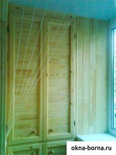 """Шкафы на балкон и лоджию на заказ компания """"окна борна""""."""