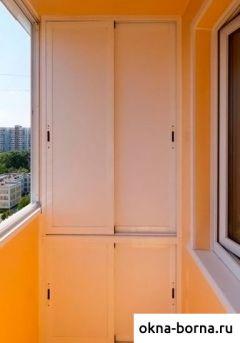 Раздвижной шкаф на балкон открытый